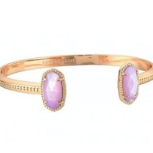NWT ELTON PINCH CUFF ROSE GOLD ORCHID PINK PEARL